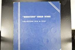 Whitman Coin Folder For Mercury Head Dimes - Complete
