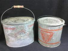 Antique Tackle Bait Buckets