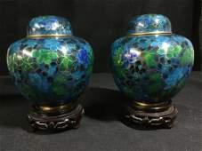 Vintage Chinese Cloisonne Urns
