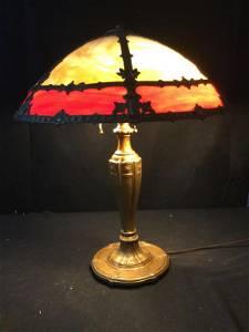 Vintage Slag Glass Lamp