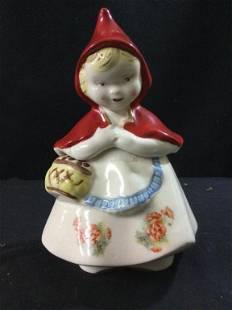 Vintage Red Riding Hood Cookie Jar
