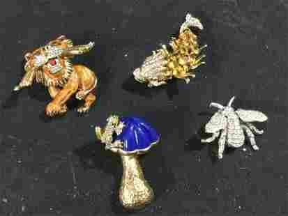 Vintage Kenneth J Lane Pin Pendants & More