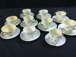 Antique Belleek Cups & Saucers