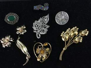Vintage Sterling Brooches Jewelry