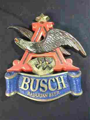 Vintage Anhenuser Busch Bavarian Eagle Beer Sign