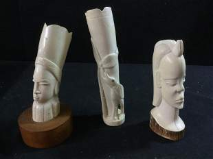 Carved African Heads
