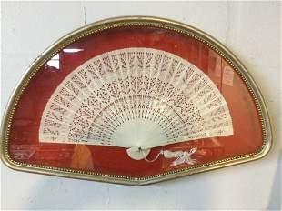 Carved Vintage Fan