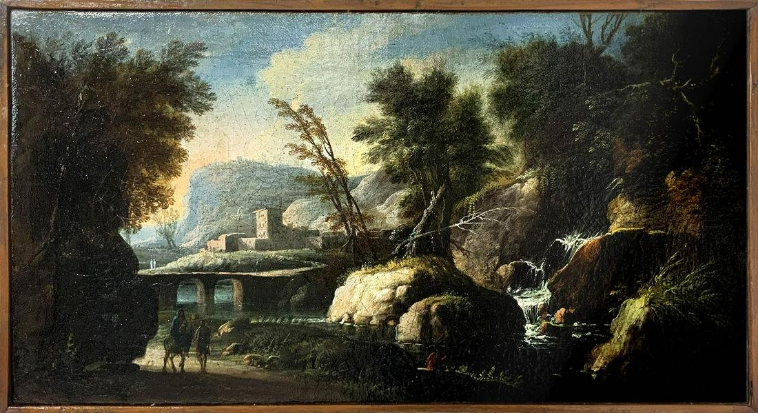 Italian painter from the 18th century. Landscape