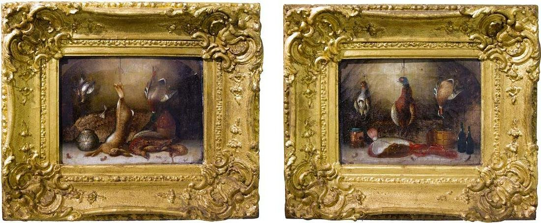 Flemish painter from the 19th century, pair of still