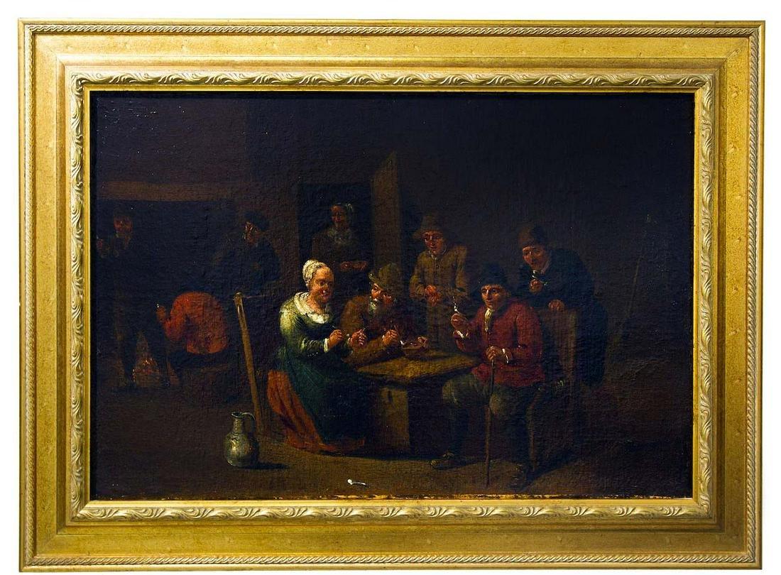 Flemish painter of the 18thCentury. Smokers indoor.