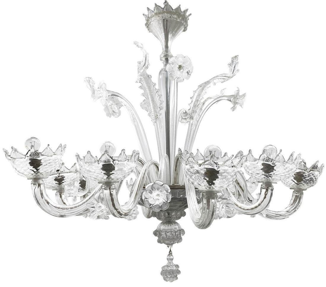 Murano glass chandelier , 10 lights.  H cm 100 x cm