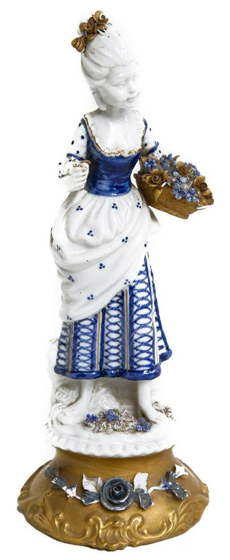 Capodimonte porcelain. Late 19th century. Lady and