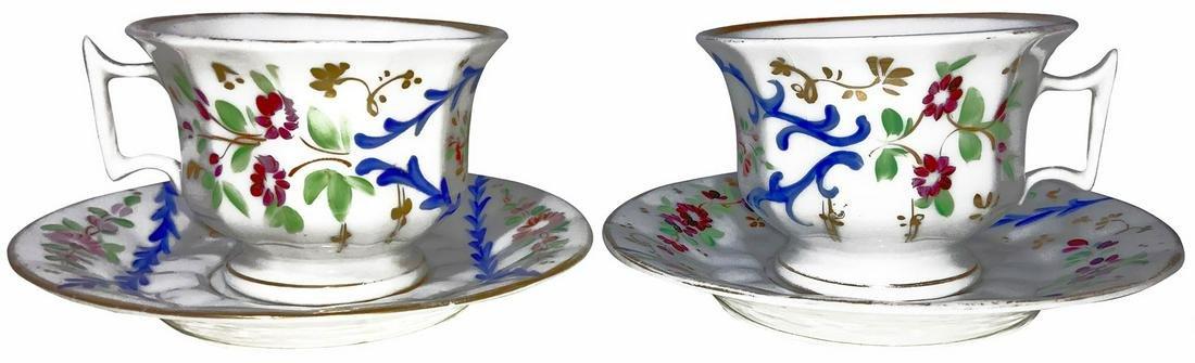 Pair of procwelain cups, Luigi Filippo, 1840. Sicily..