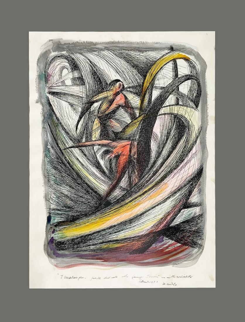 Carmelo Mendola (Catania, 1895 ? Catania, 1976). Sketch