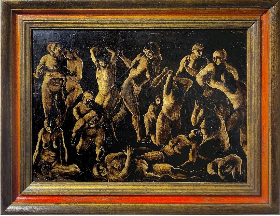 Enzo Assenza (Pozzallo 1915-1981 Rome). Massacre of the