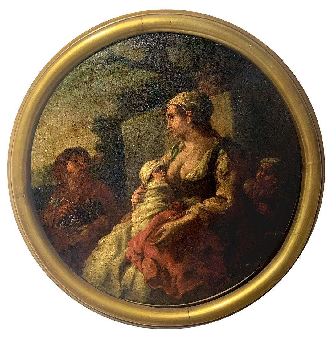 Painter from the 18th century. Charity allegory.