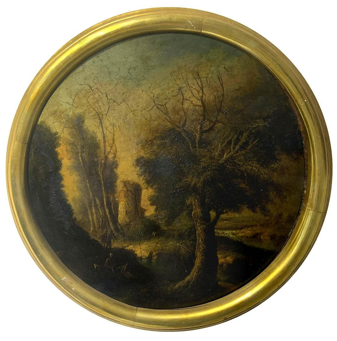 Painter from the 18th century. Italian style. Round