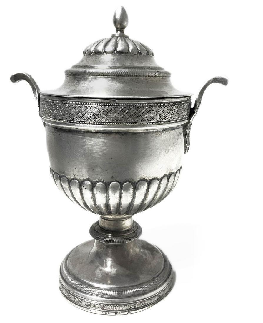 Silver sugar bowl, Imperial period. 19th century.