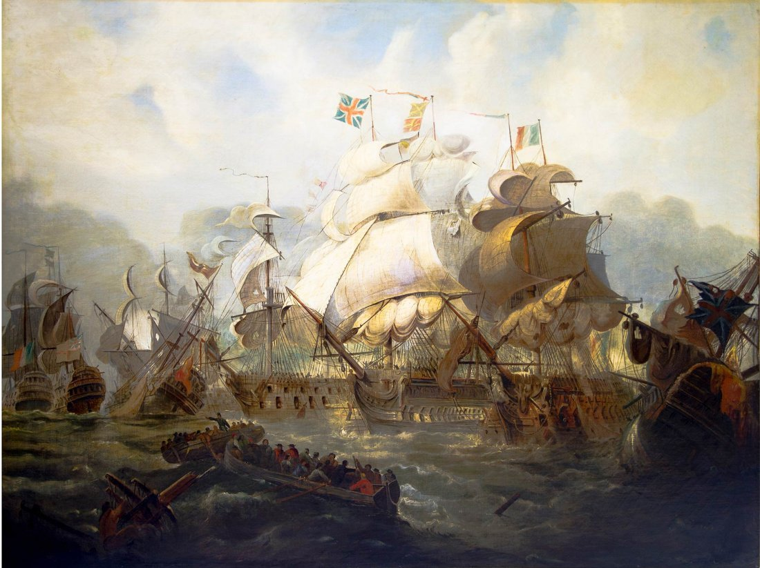 Painting allegedly by Philip James de Loutherbo. Battle