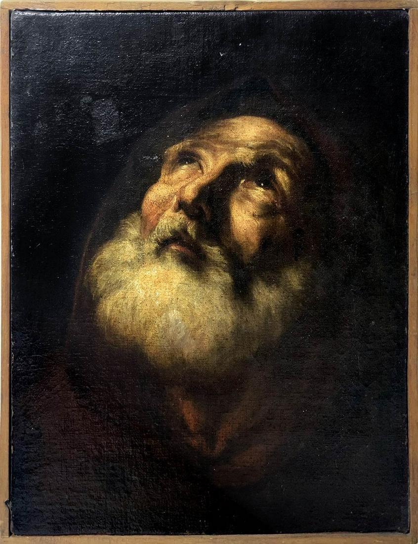 From northern Italy, 18th century. Portrait of Saint