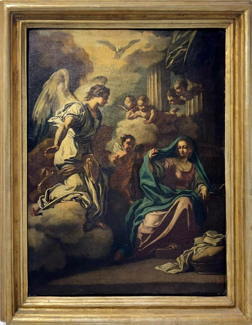 Southern Italy painter from 19th centruy. Annunciation,
