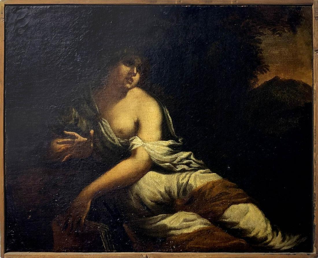 Venetian-emiliano, 17th century. Female character with