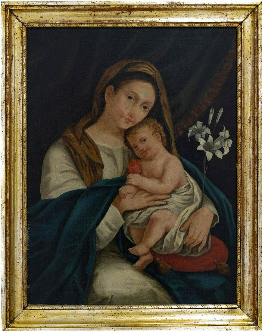 Sicilian painter of the XIX Century. Virgin Mary with