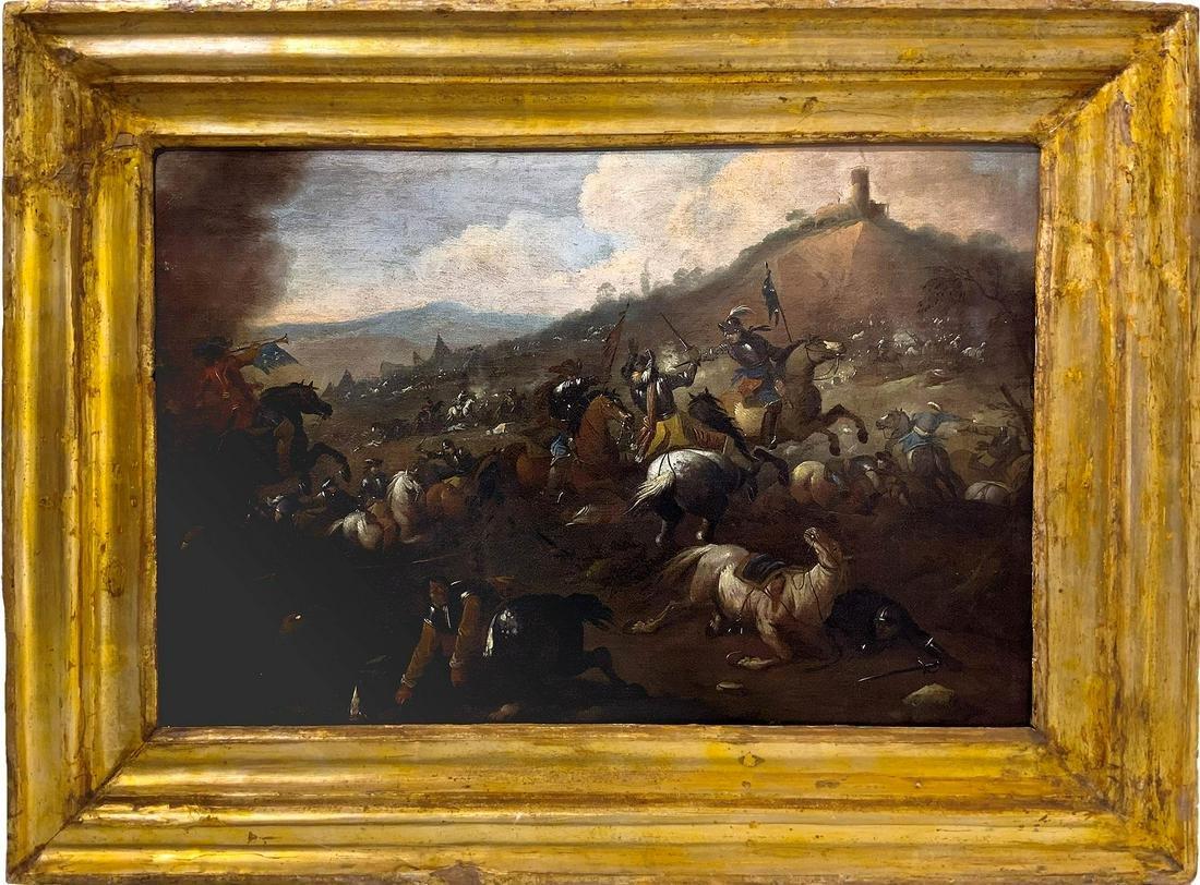 Antonio Calza ( Verona 1653- Verona 1725). War scene