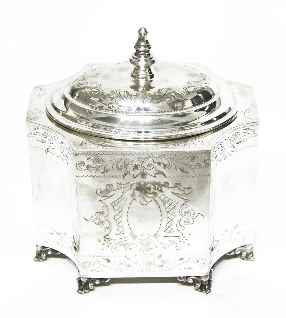 Silver 800 box finely hand-finished. Punch Mi 143, year