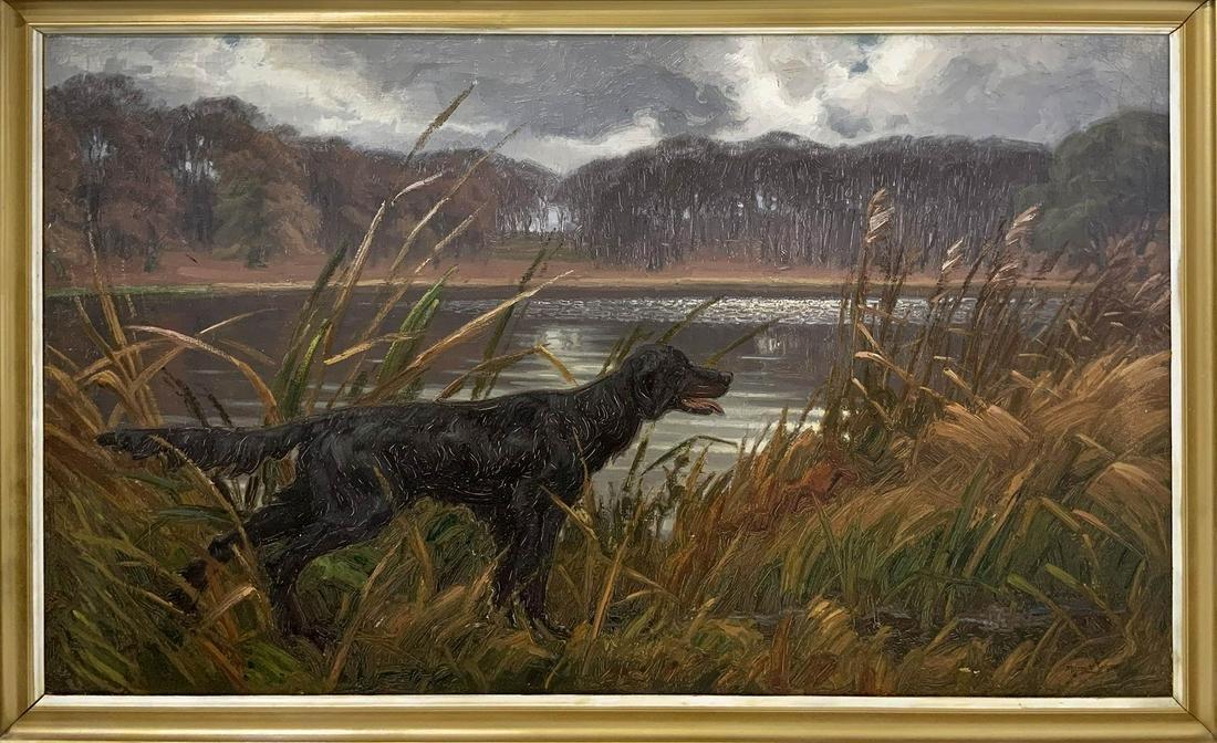 Alfred Jensen (1903, Guatemala- 1981, USA). Hunt dog in