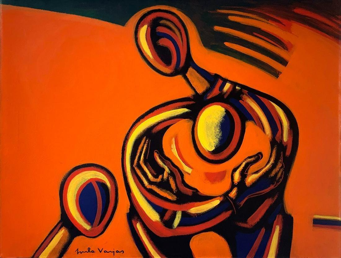 Gyula Varjas (1916 Pecs -2001). 60x80, oil paint on