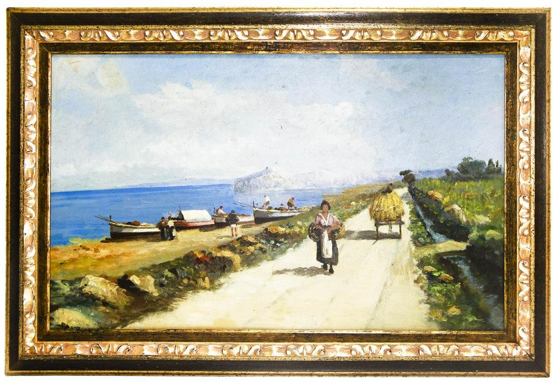 Sicilian painter form late 19th century. Road to