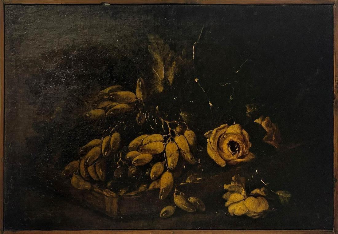 Italian painter form the 18th century. Still life with