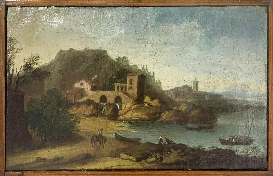 Italian painter from the 18th century. landscape with