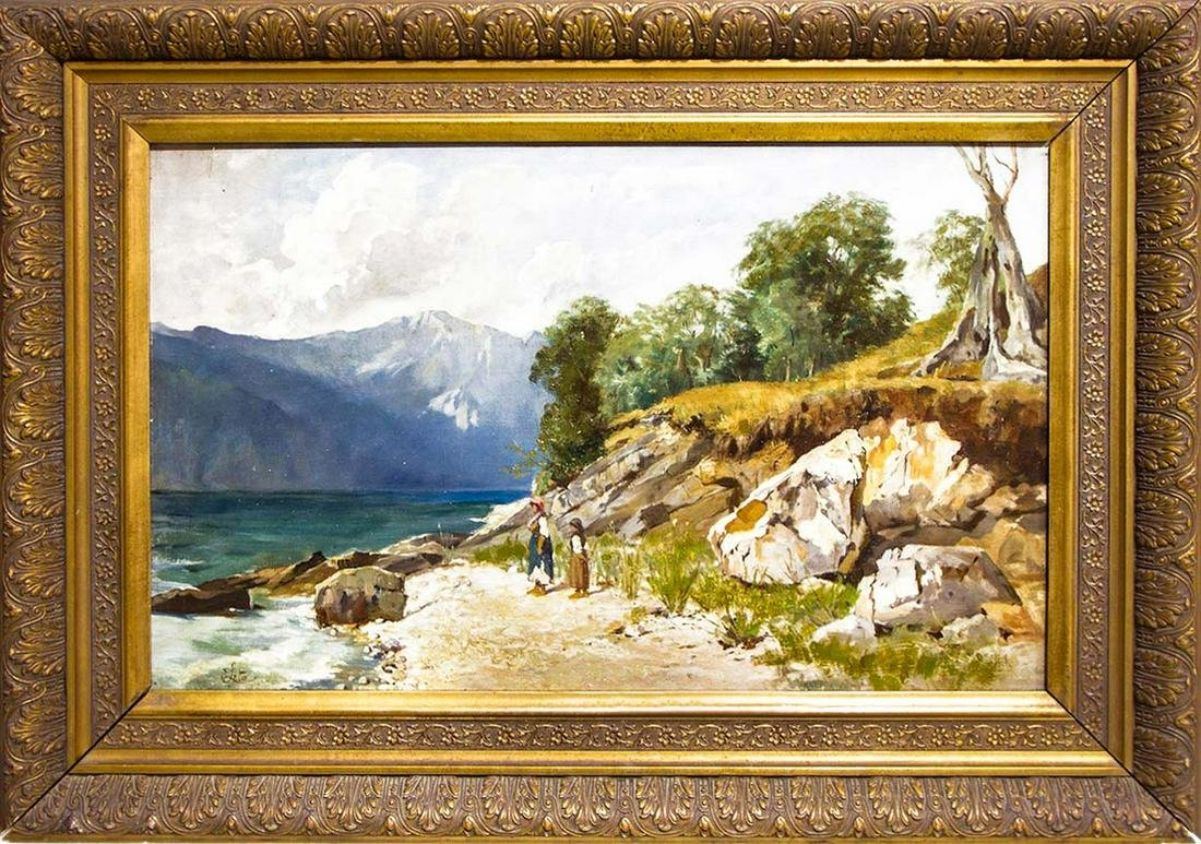 Antonino Leto (Monreale, 1844 ? Capri, 1913). Sisters