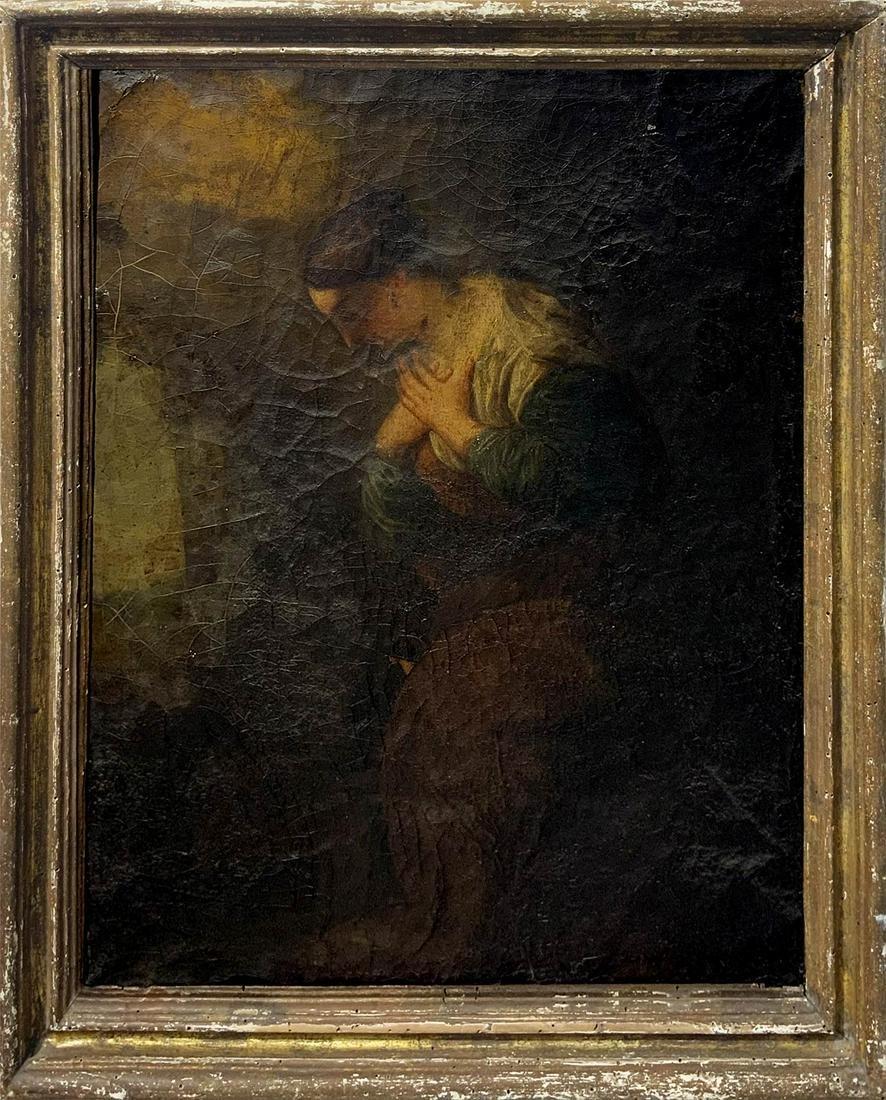 Italian painter from the 18th century. Woman praying.