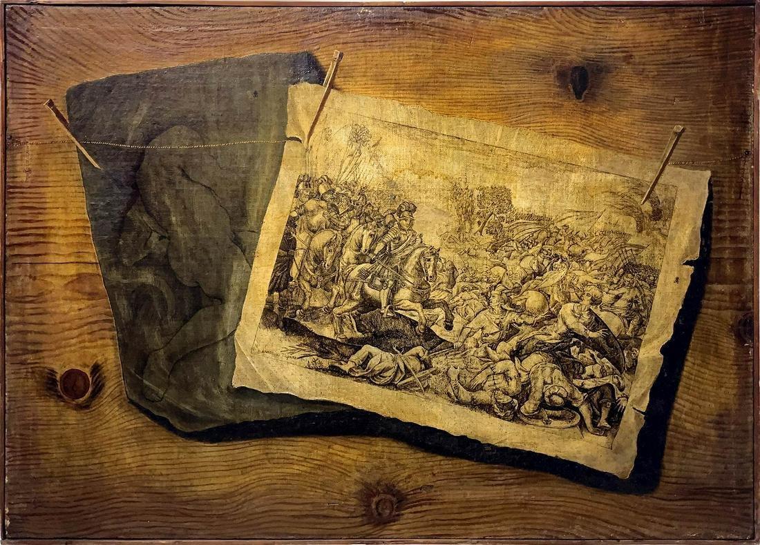 Luigi Desiostyle. Trompe l'oeil with Antonio Tempesta
