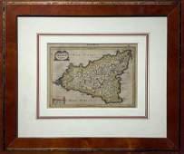 'Siciliae regnum 1625, Gerard Mercator - Hondius