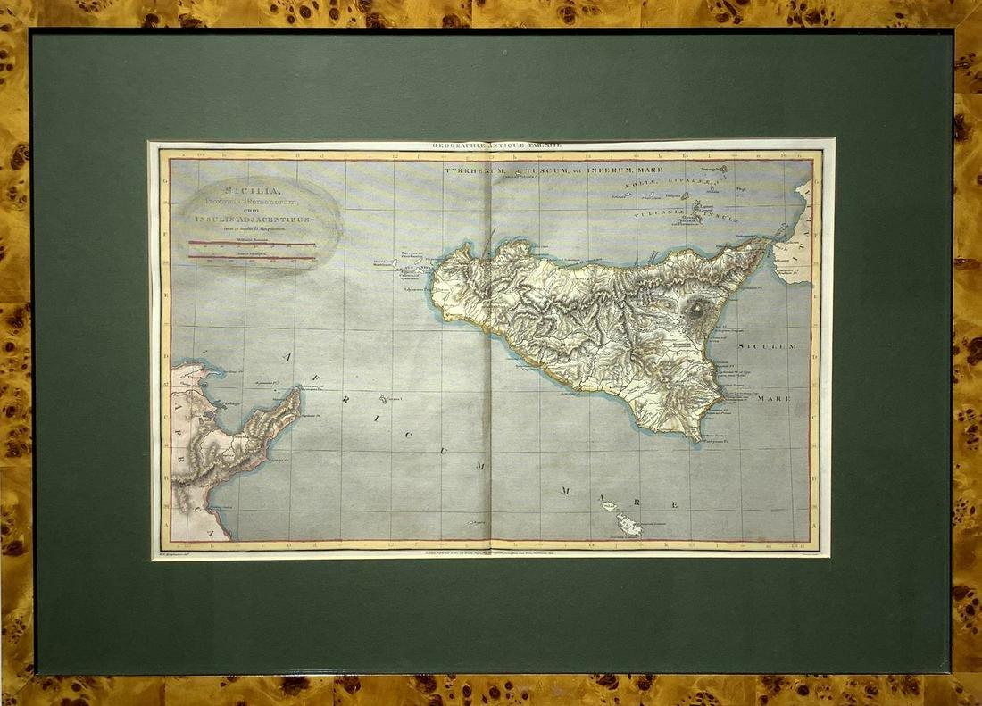 'Sicilia provinces romanorum, 1807, W W Macpherson,