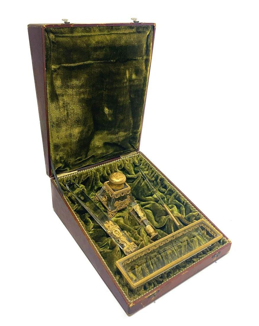 Important desk crystal Rocca 'zecchinati', nineteenth