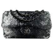 Chanel Sequin Ombre Medium Crossbody Flap Bag - CC