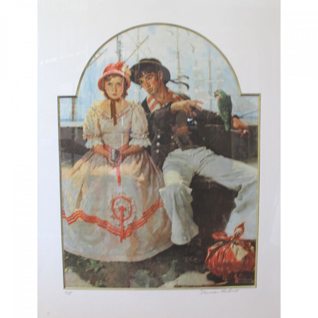 Norman Rockwell - Voyager Collotype Framed Art