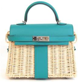Hermes - Picnic Kelly Mini 20 Handbag - Shoulder strap