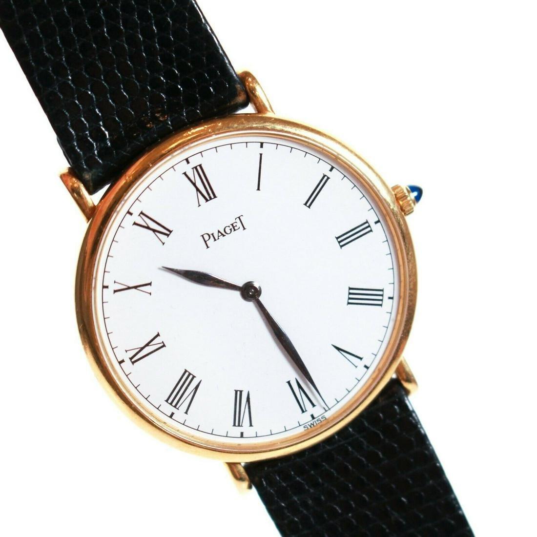 Piaget - Black Leather Wristwatch - Women