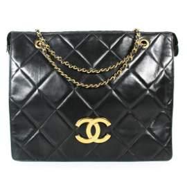 Chanel - XL Vintage Zip Top Shoulder CC Tote Bag