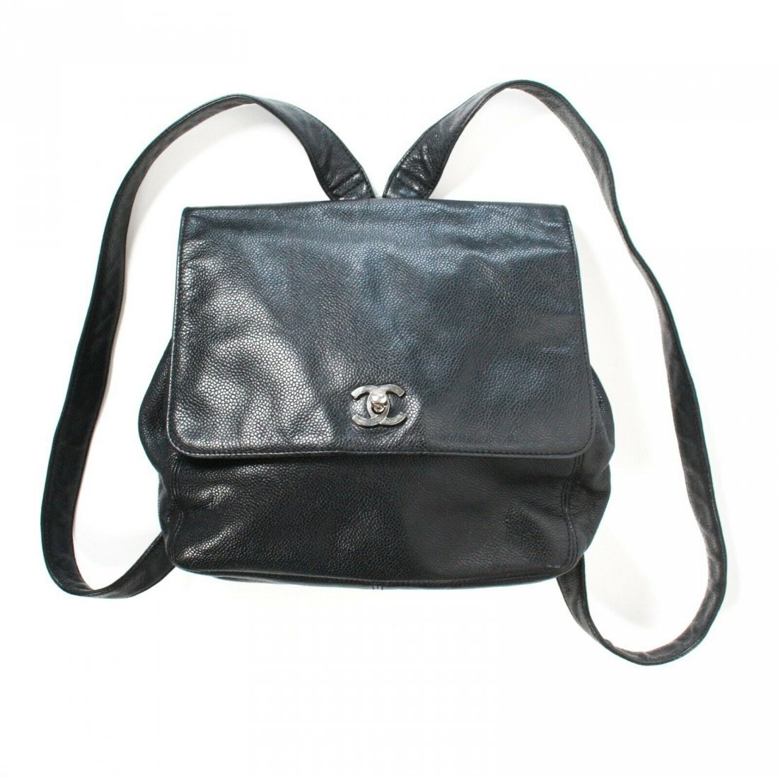 Chanel - Vintage Backpack - Caviar Leather - CC - S/M