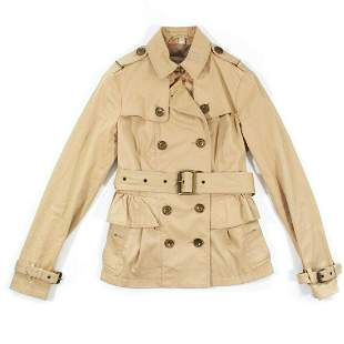 Burberry Brit - Womens Trench Coat Short Belted Jacket