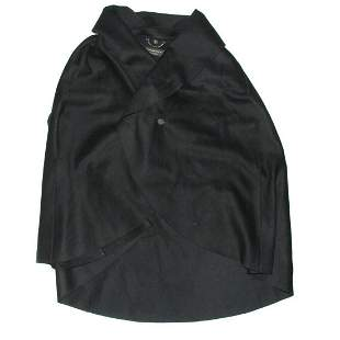 Burberry - Collared Button Cape Poncho Coat Jacket