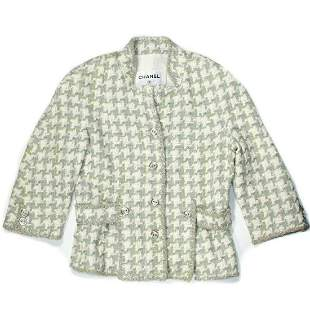 Chanel - 2008 Spring Tweed Houndstooth Blazer Jacket