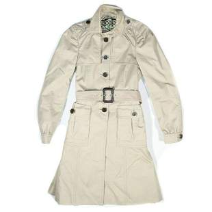 Gucci - Long Belted Trench Coat  Color: Tan  Size: US 0